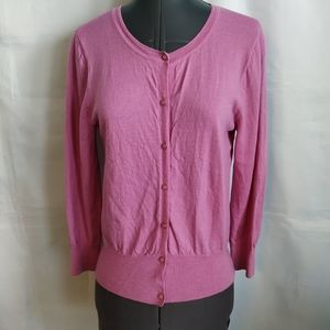 J crew Cardigan Sweater sz S M ? Pearl Button wool